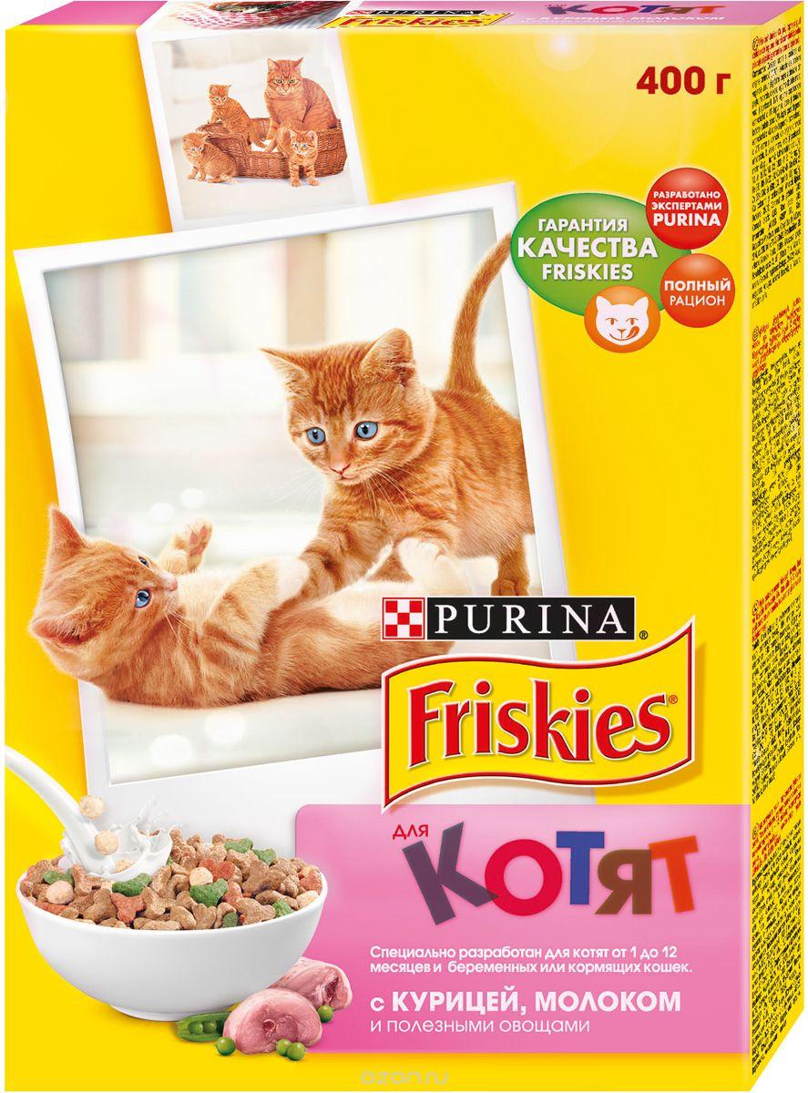 Friskies для котят, с курицей, молоком и полезными овощами