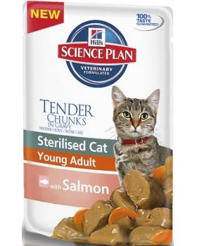 ХИЛЛС  Пауч с лососем для кастрированных кошек