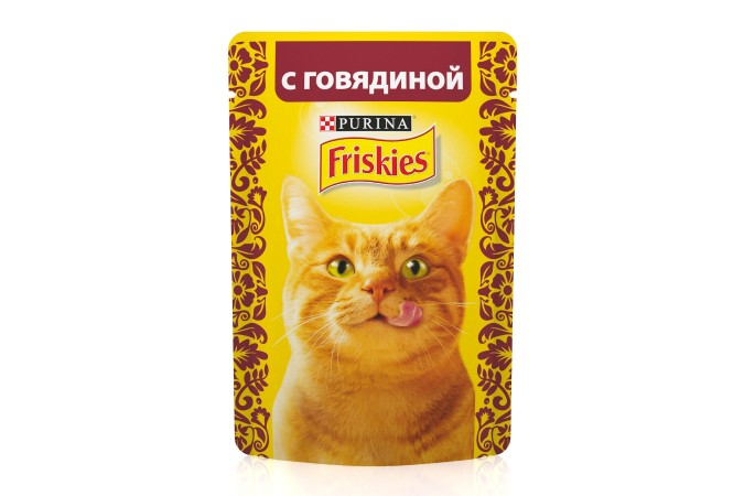Консервы для кошек Purina Friskies с говядиной