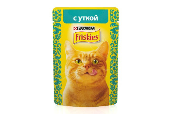 Консервы для кошек Purina Friskies, утка