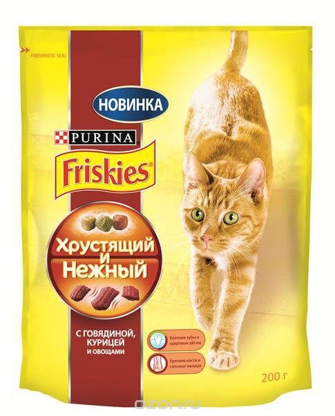 """Friskies """"Хрустящий и нежный"""" с говядиной, курицей и овощами"""