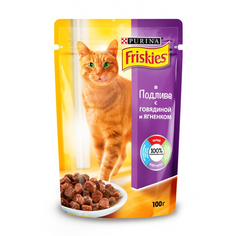 Консервы для кошек Purina Friskies, ягнёнок
