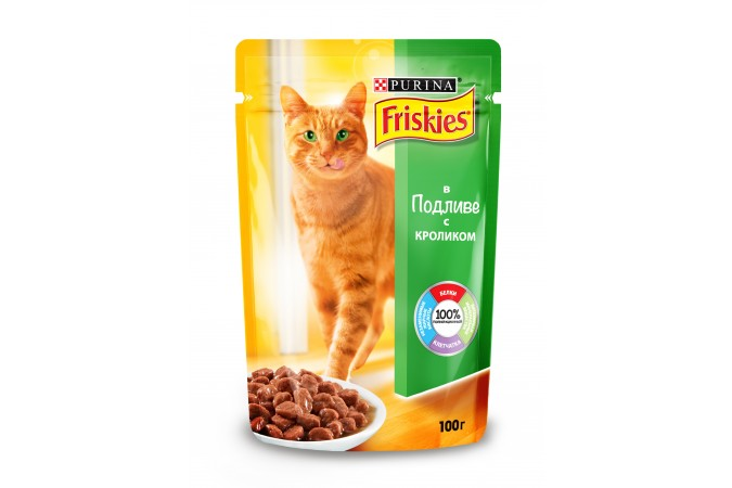 Консервы для кошек Purina Friskies, кролик с подливом