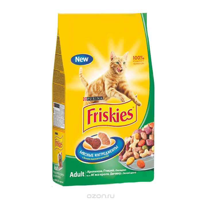 Friskies, с кроликом и полезными овощами