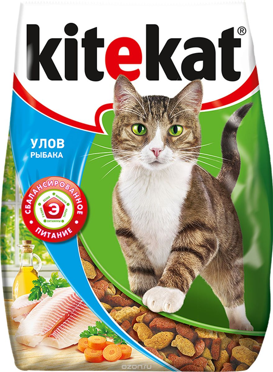Сухой корм  для кошек Kitekat улов рыбака