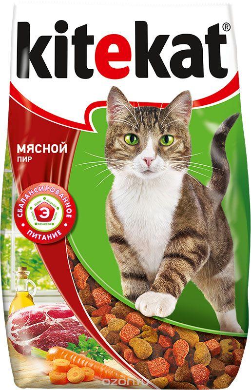 Сухой корм  для кошек Kitekat мясной пир