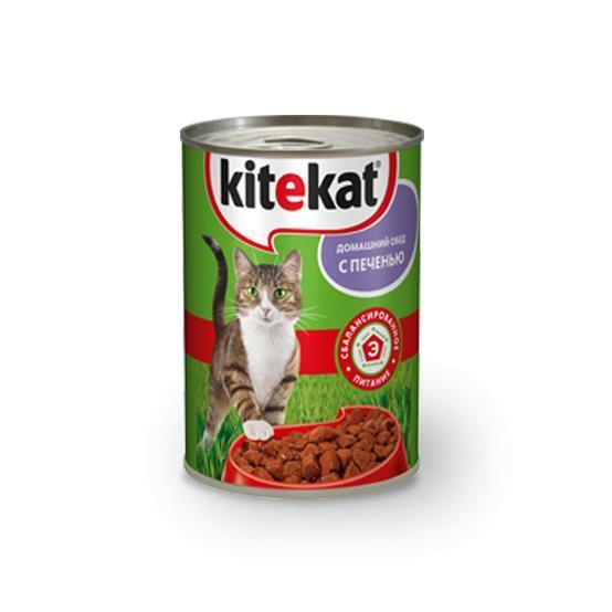Корм для кошек Kitekat домашний обед с печенью.