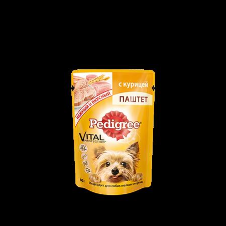 PEDIGREE Паштет для взрослых собак мелких пород с курицей