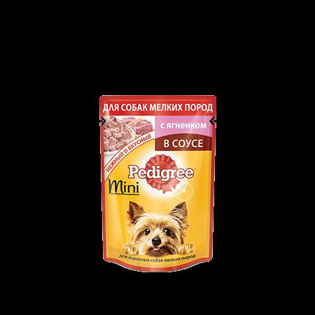PEDIGREE для взрослых собак мелких пород в соусе с ягненком