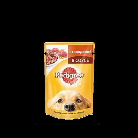 PEDIGREE Паштет для взрослых собак мелких пород с говядиной