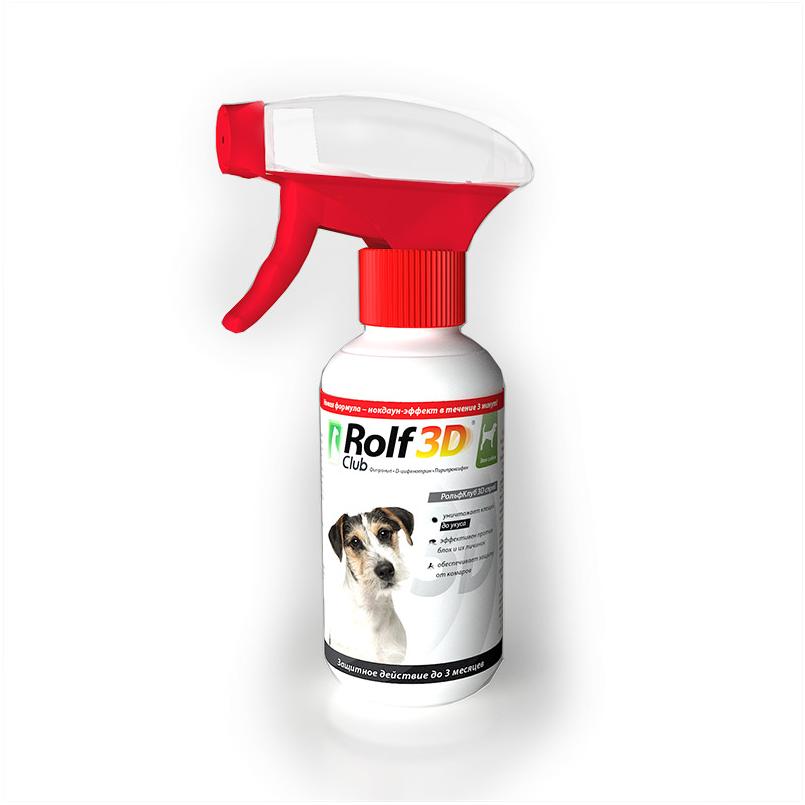 RolfClub 3D спрей от клещей и блох для собак