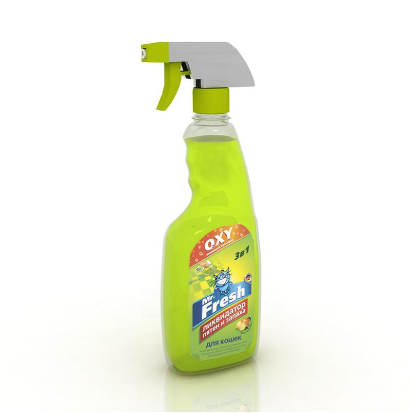 Mr.Fresh 3 в 1 Ликвидатор пятен и запаха для кошек