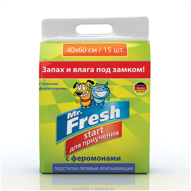 Mr.Fresh Start подстилки для приучению к месту 40x60(15шт)