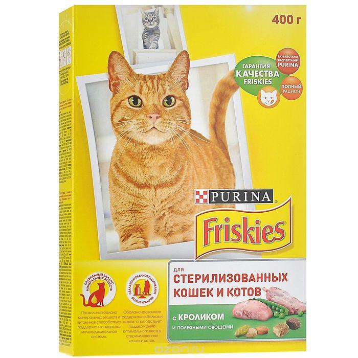 """""""Friskies"""" для стерилизованных кошек, с кроликом и овощами"""
