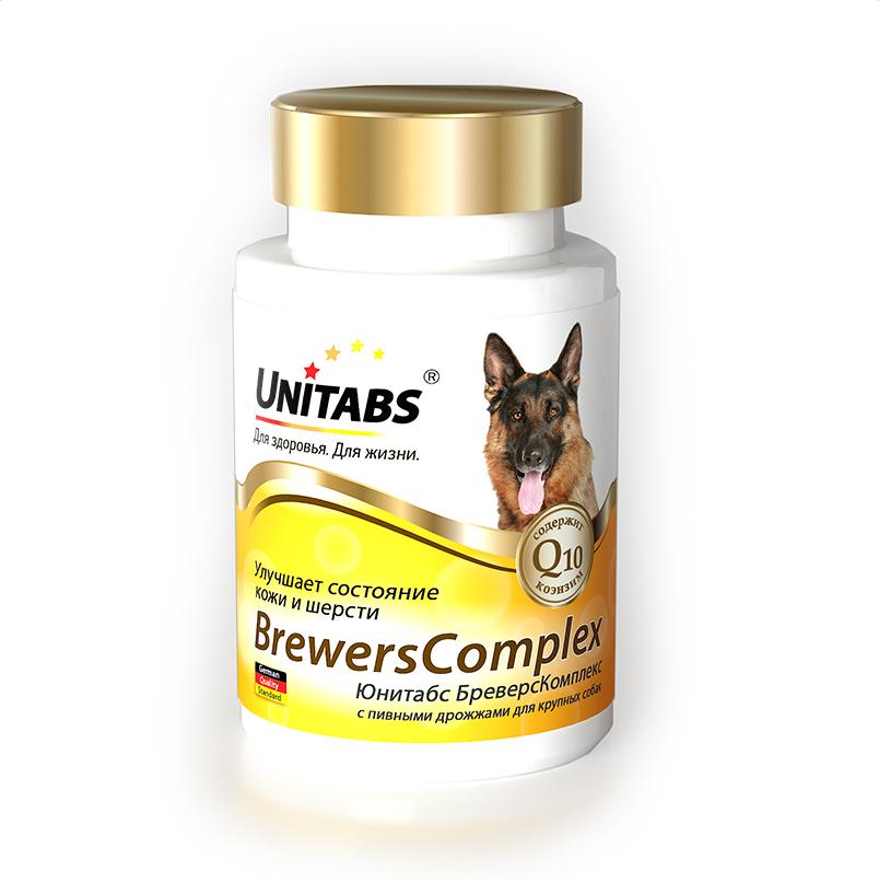 Unitabs BrewersComplex для улучшения состояния кожи и шерсти для крупных собак