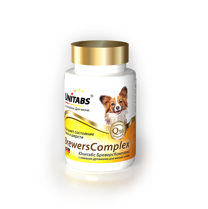 Unitabs BrewersComplex для улучшения состояния кожи и шерсти для мелких собак